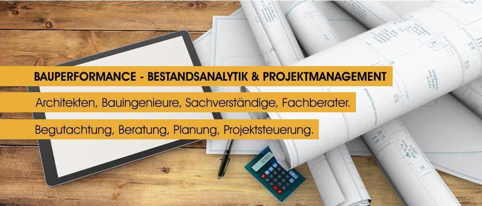 Bauperformance - Bestandsanalytik und Projektmanagement - Architekten, Bauingenieure, Sachverstaendige, Fachberater, Begutachtung, Beratung, Planung, Projektsteuerung - www.sanmoritz.de