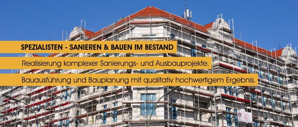 Spezialisten fuer Bauen und Sanieren im Bestand - Planung, Umbau, Ausbau, Baubetreuung, Professionelles Baumanagement - www.sanmoritz.de